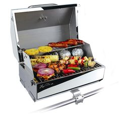 "Kuuma Elite 216 Gas Grill - 216"""" Cooking Surface - Stainless Steel"
