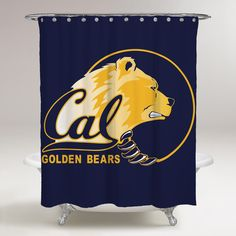 CALIFORNIA GOLDEN BEARS LOGO WALLPAPER BLUE BACKGROUND Printed Shower Curtain Bathroom Decor  Price: & FREE Shipping  #fatboystudio