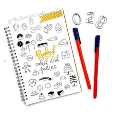 Day 28 of  #THE100DAYPROJECT - cakes and pastries doodle icons ©TheRevisionGuide Doodles and lettering from instagram.com/therevisionguide