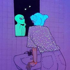 Trippy space art - Digital art - Motivation - Cool Design - Aliens in 2019 Alien Aesthetic, Purple Aesthetic, Aesthetic Art, Aesthetic Drawing, Aesthetic Vintage, Aesthetic Pictures, Psychedelic Art, Art Pop, Dope Kunst