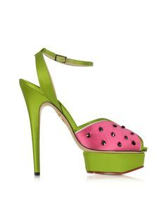 Charlotte Olympia Mouthwatering Platform Sandal w/Crystals