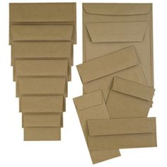 brown paper bag envelopes - I've been looking for these!