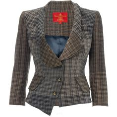 Vivienne Westwood Foggy Tweed Alcoholic Jacket ❤ liked on Polyvore