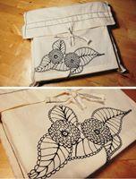 bossa de cotó pintada a mà