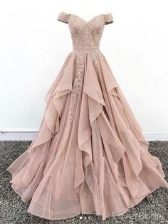 Off Shoulder Dusty Champagne Lace Cheap Long Evening Prom Dresses, Evening Party. - Off Shoulder Dusty Champagne Lace Cheap Long Evening Prom Dresses, Evening Party Prom Dresses, 18627 Source by - Pretty Prom Dresses, Prom Party Dresses, Elegant Dresses, Beautiful Dresses, Formal Dresses, Sexy Dresses, Cheap Dresses, Summer Dresses, Wedding Dresses