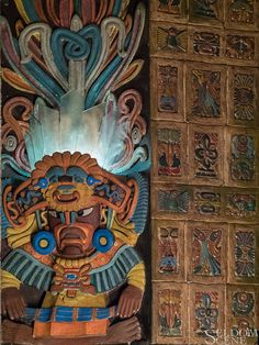 """https://flic.kr/p/H6kNCt   Not feeling welcomed   A bit of """"Mayan Revival Style"""" decoration in the Mayan Theater; Denver, Colorado.   Copyright © 2016 Seldom Scene Photography, All Rights Reserved."""