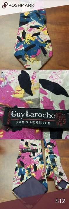 """Guy Laroche Vintage NeckTie Great Vintage Condition, vibrant abstract design, classic style, 57"""" long Guy Laroche Accessories Ties"""