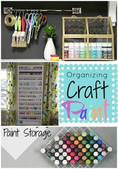 craft room organization/Organizing the Craft Paint! #craftroom #organizing