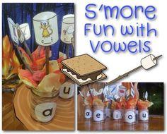 Camp Kindergarten: 8 camp-themed literacy centers! A summer full of fun! Camping Classroom Ideas!