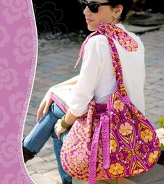 A large capacity, baggy shoulder bag with adjustable handles ideal for carrying everyday items and more. This pdf sewing pattern is from Pat Bravo and is rated as an advanced sewing project. The ...