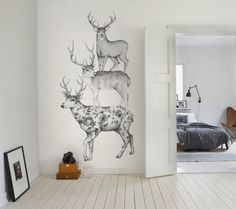 Product image for Wall mural Three Dears