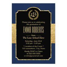 187 best law school graduation invitations images on pinterest law school graduation navy blue gold lawyer invitation filmwisefo