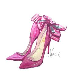 This illustrator really makes me want to pick up my pencils and water color and get back into fashion illustration. Louboutin - Katie Rodgers Illustration