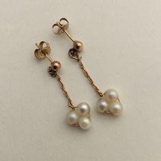 14 k gold pearl earrings 14 k gold pearl earrings.  7014 Jewelry Earrings