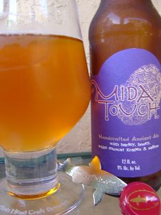 """My Favorite Beer:  Midas Touch - """"This recipe is the actual oldest-known fermented beverage in the world! It is an ancient Turkish recipe using the original ingredients from the 2700 year old drinking vessels discovered in the tomb of King Midas. Somewhere between wine & mead; this smooth, sweet, yet dry ale will please the Chardonnay of beer drinker alike.""""    Dogfish Head"""