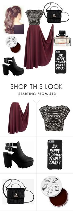 """""""Untitled #217"""" by mikayla-burgess ❤ liked on Polyvore featuring MM6 Maison Margiela, too cool for school and Gucci"""