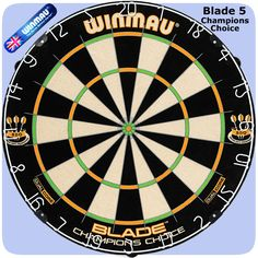 Winmau Blade 5 CC Dartboard - Thinner Trebles and Doubles - Dual Core - Champions Choice - http://www.dartscorner.co.uk/product_info.php?products_id=19409