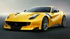 You wouldn't call her Mellow Yellow. More images + release date of Ferrari's next big thing  #Ferrari #F12tdf