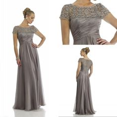 Elegant Gray Mother Of The Bride Dresses Full Length Crystal Beading Women Dresses With Sleeves Evening Dress to Party Formal Gown Plus Size from Ballydress,$130.9 | DHgate.com