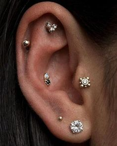 Cool Ear Piercings to Try Out this Summer with Tragus Earring, Helix Piercing, Conch Stud, Cartilage Earring