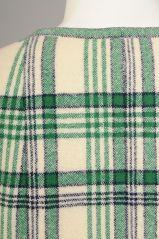 Pauline Trigere Blanket Plaid Coat at 1stdibs