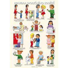 Tematický obraz: Pravidla společného soužití Preschool Decor, Classroom Management, Kids And Parenting, Montessori, Adhd, Kindergarten, Homeschool, Crafts For Kids, Teaching
