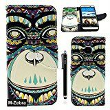 M9 Case,HTC One M9 Wallet Case, M-Zebra Printed Series Light Color Design PU Leather Stand Wallet Type Magnet Design Flip Case Cover For HTC One M9, with Screen Protectors+Stylus+Cleaning Cloth (Orangutan)