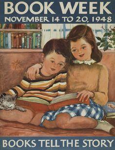 Official Children's Book Week poster, 1948, Maruerite Lofft De Angeli (1889-1987)