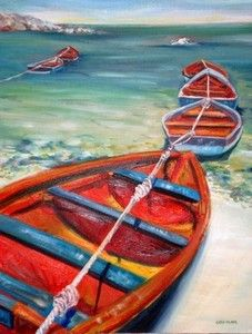 Cathy Milner - fishing boats, West Coast | Contemporary Art Modern Art
