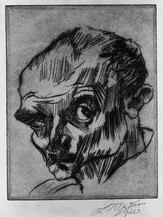 Self Portrait, 1920 by Ludwig Meidner (German, 1884-1966)
