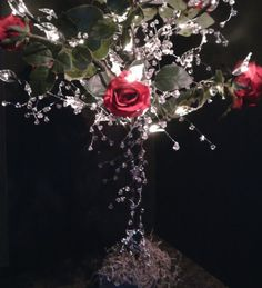 Enchanted Tree Centerpieces   (LED/Crystal/Floral Trees) :  wedding led lights wedding tree centerpiece bling flowers crystal tree do it yourself for rent teal black blue brown navy gold green orange pink purple red white ivory yellow silver bouquet inspiration flowers diy reception oc la la 1 floral tree bling decor lighting crystals reception centerpiece wedding centerpiece Y9kzA