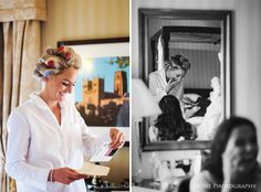 I started my day withSarah and the girls in her bridal suite in the Royal County Marriott Hotel in Durham.