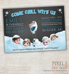 Frozen Birthday Invitation Frozen Birthday por PixelPerfectShoppe, $14.99