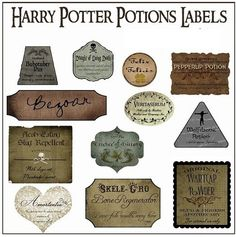 Pocket : 【ハリーポッター】魔法薬ラベル 18種類