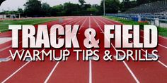 Check out these awesome warm up tips and drills for track & field competitors. Practice drills and tips included! Running Track, Running Club, Track Workout, Running Tips, Sports Training, Running Training, Training Equipment, Track Drill, Indoor Workout