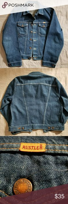 Rustler Denim Jacket Flawless vintage  denim jacket made Rustler. This jacket is used but shows absoulty no signs of wear at all! Super stylish and great for the upcoming winter months. Men's size L Rustler Jackets & Coats