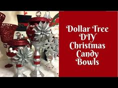 In this video, I'll show you how to make some uber glamorous Dollar Tree DIY candy bowls. Make your own Mod Podge: . Christmas Craft Fair, Christmas Crafts To Make, Dollar Tree Christmas, Christmas Sewing, Christmas Candy, Holiday Crafts, Christmas Decorations, Homemade Christmas, Rustic Christmas