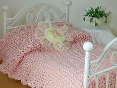 Dollhouse Bedspread Miniature 1:12 Scale by TheLittleEmptyNest