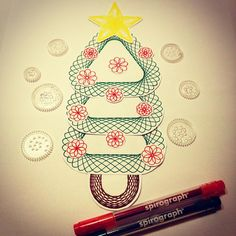 spirograph drawings spirograph, c Illustration Story, Christmas Crafts, Christmas Tree, Doodle Art Journals, Spirograph, Awesome Anime, Paint Designs, Pattern Art, Toys