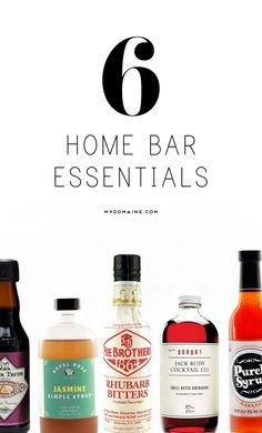 You need these to complete your home bar