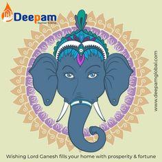 Ganesha with ornamental circle Premium Vector Elefante Hindu, Vector Free, Elephant, Graphic Design, Christmas Ornaments, Lord Ganesha, Blessings, Vectors, Art