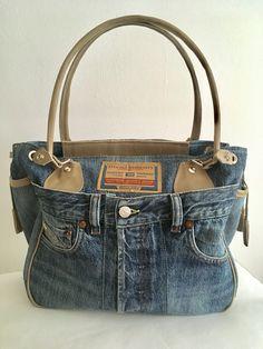 Jeans Diesel Leder Sand