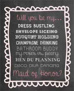 Will you be my maid of honor digital file - Funny - Bridesmaid invitation - JPEG Digital File on Etsy, £4.00