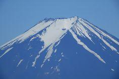 Mt.Fuji from Mt.Mitsutouge (1,785m). Still the top is covered by lots of snow. Fuji-kawaguchikomachi, Yamanashi prefecture, Japan.