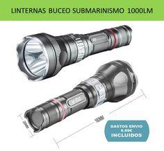 Linterna sumergible para deportes de buceo y submarinismo LED CREE 1000 lúmenes.