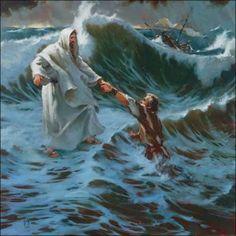 Jesus walks on water- The Storm