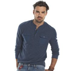 This men's Rock & Republic tee will make him look and feel good at any time. Henley Shirts, Polo Shirt, T Shirt, Polo Ralph Lauren, Tees, Mens Tops, Rock, Fashion, Supreme T Shirt