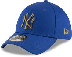 NY Yankees New Era 3930 League Essential Blue Stretch Fit Baseball Cap – lovemycap