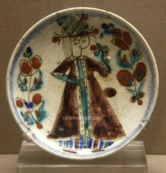 Kutahya Plate Woman Figure 18th – Benaki Islamic Museum