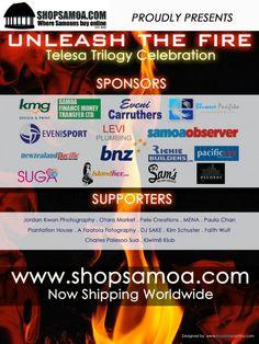 "Latest News — Shop Samoa ""Telesa Trilogy Celebration - Unleash the Fire"" Finance, Celebration, Fire, Island, Marketing, Shop, Photography, Photograph, Fotografie"